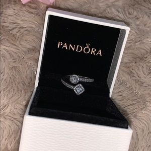 Square and Circle Open Ring from Pandora